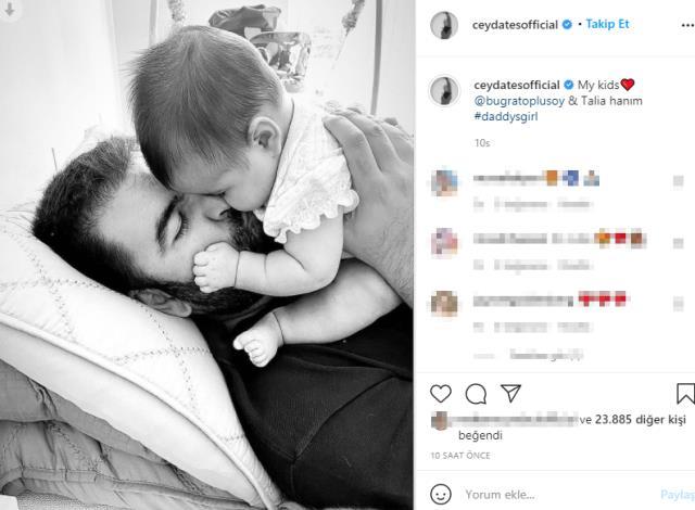 Oyuncu Ceyda Ateş'in 4 aylık bebeğini gören herkes aynı yorumu yapıyor: Babasının kopyası