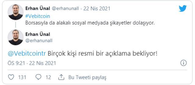 Son Dakika: Vebitcoin isimli Türk kripto para borsası faaliyetlerini durdurma kararı aldı