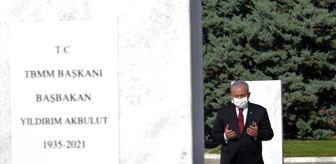 Yıldırım Akbulut: TBMM Başkanı Şentop'tan Devlet Mezarlığı'na ziyaret