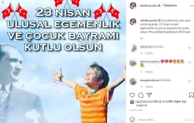 Ünlü isimlerden 23 Nisan Ulusal Egemenlik ve Çocuk Bayramı paylaşımları