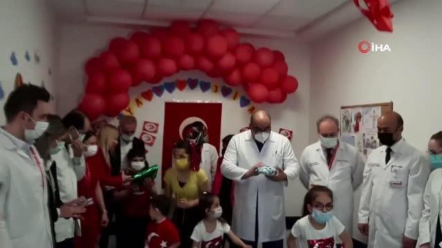 Ankara Şehir Hastanesinde tedavi gören çocuklara 23 Nisan sürprizi