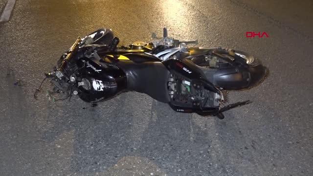 Vincin demir ayağına çarpan motosiklet sürücüsü öldü