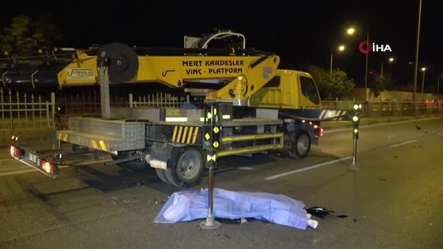 Son dakika haber | Vincin demir ayaklarına çarpan motosiklet sürücüsü hayatını kaybetti