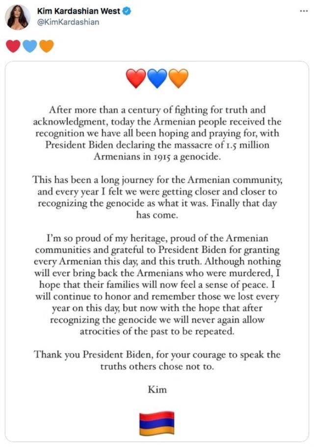 Kim Kardashain'dan skandal mesaj: Joe Biden'a teşekkür mesajı attı