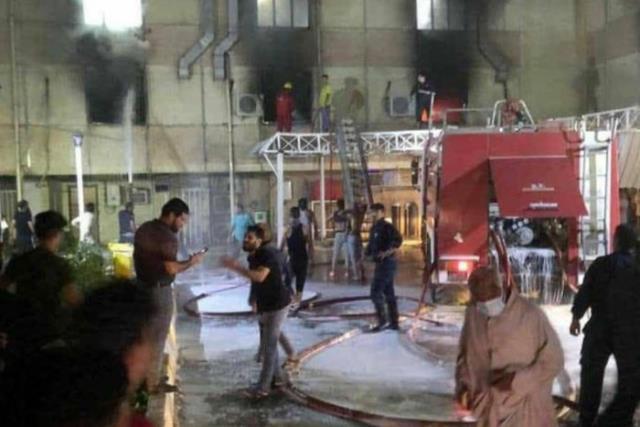 Komşuda bilanço ağırlaşıyor! Korona hastalarının tedavi gördüğü hastanedeki yangında ölü sayısı 82'ye yükseldi