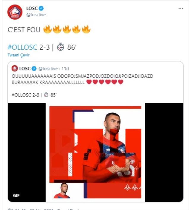 Takımının 2-0 geride düştüğü maçta 2 gol ve 1 asist yapıp galibiyeti getiren Burak Yılmaz, Fransa'da kahraman ilan edildi