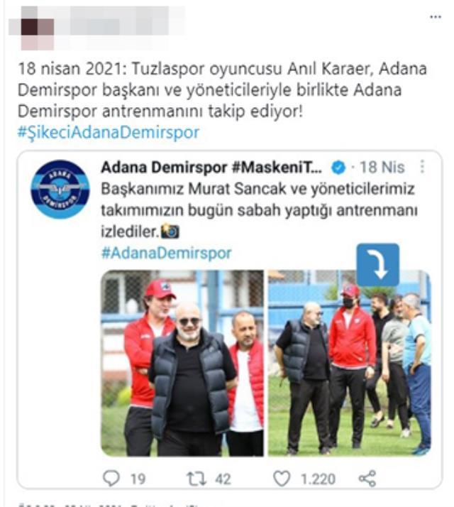 Tuzla-Adana Demir maçında şike yapılacağına yönelik binlerce Tweet atıldı, sosyal medya yangın yerine döndü
