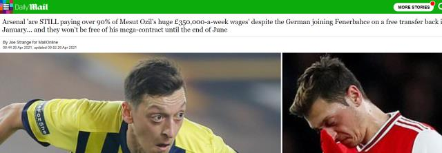News confusing the European press: Arsenal could not get rid of Mesut Ozil and continues to pay his hefty salary