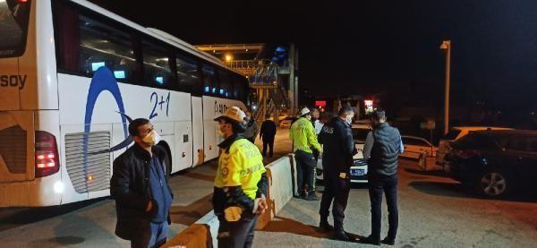 KIRIKKALE-Biletsiz yolcu taşıyan otobüsteki çift, HES sorgulamasında 'riskli grup'ta çıktı