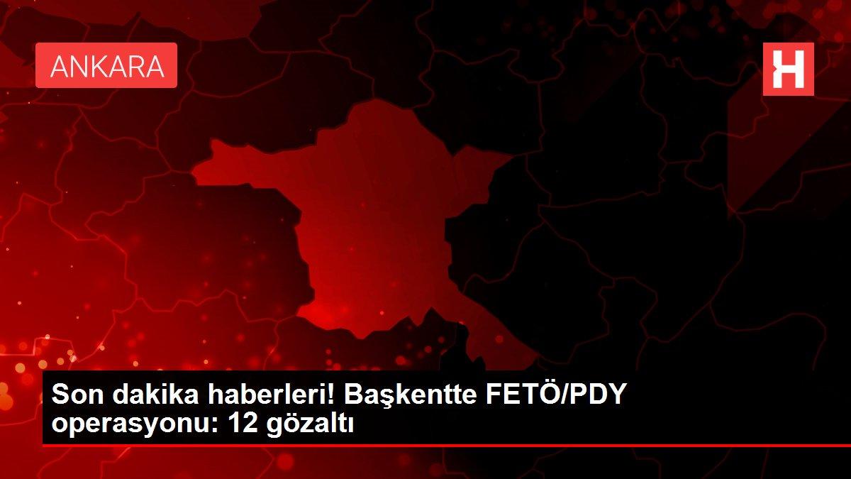 Başkentte FETÖ/PDY operasyonu: 12 gözaltı