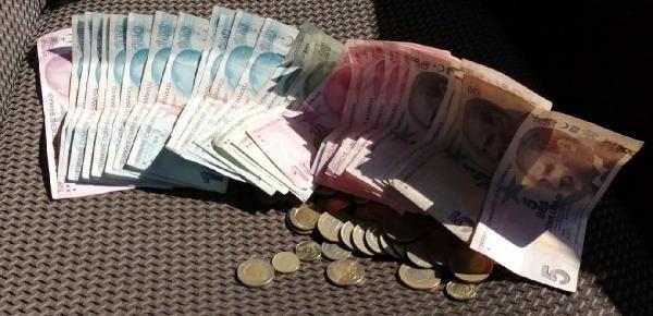 Duygu sömürüsü yapan dilencinin üzerinden 2 bin 200 lira ve 100 euro çıktı
