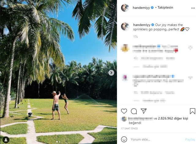 El ele görüntülenen Hande Erçel ve Kerem Bürsin, Instagram'dan aşklarını ilan etti