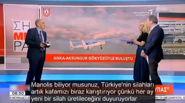 Yunan medyasını korkutan Türk silahı! Canlı yayında dikkat çeken yorum: Artık kafamızı karıştırıyor