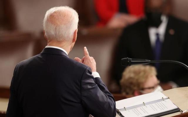 ABD Başkanı Biden Kongre'deki ilk konuşmasını yaptı! Tarihe geçen görüntü dikkat çekti