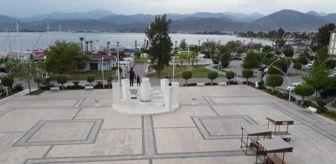 İçmeler: Drone - Fethiye'de sahiller, meydanlar ve caddeler sessizliğe büründü