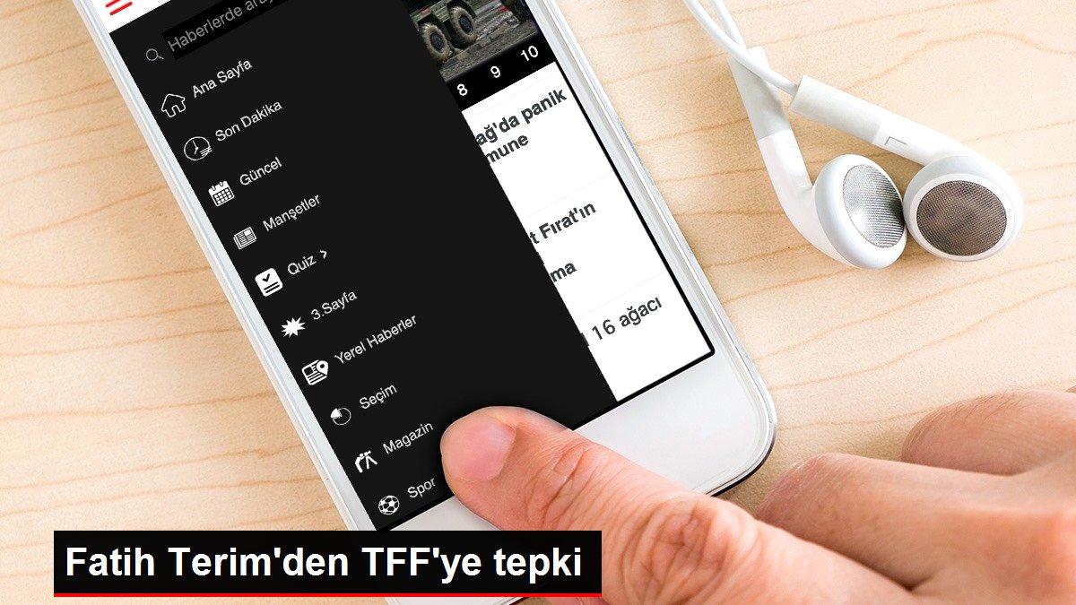 Fatih Terim'den TFF'ye tepki