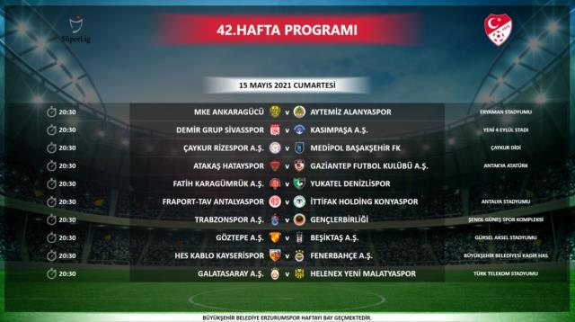 Şampiyonluk yarışındaki en kritik maç olan Galatasaray-Beşiktaş derbisi, 8 Mayıs Cumartesi günü oynanacak