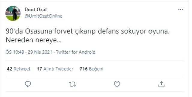 Ümit Özat, Emre Belözoğlu'nun peşini bırakmıyor! 'FETÖ' tartışması yaşayan ikilinin gerilimini şimdi de 'Osasuna' göndermesi yükseltecek