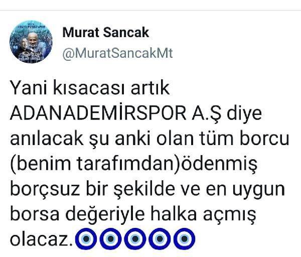 Adana Demirspor, şirketleşti; 'Hakkın rahmetine kavuşana kadar başkanınızım'
