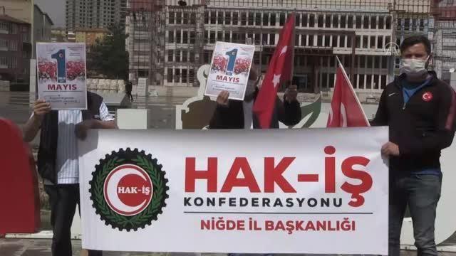 İç Anadolu Bölgesi'ndeki 6 ilde 1 Mayıs Emek ve Dayanışma Günü dolayısıyla basın açıklaması yapıldı