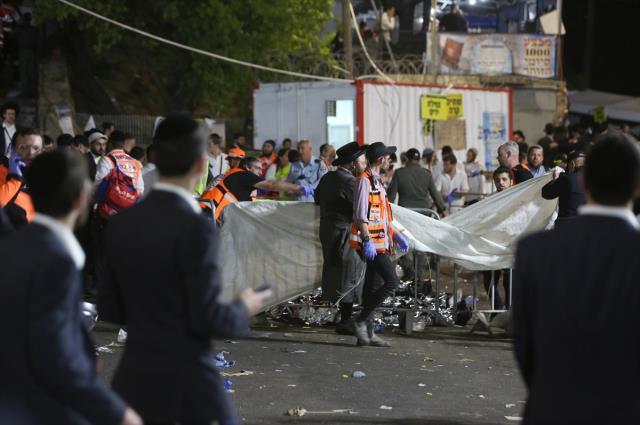 İsrail'deki bayram kutlamalarında yaşanan izdiham! 44 kişi öldü, onlarca yaralı var