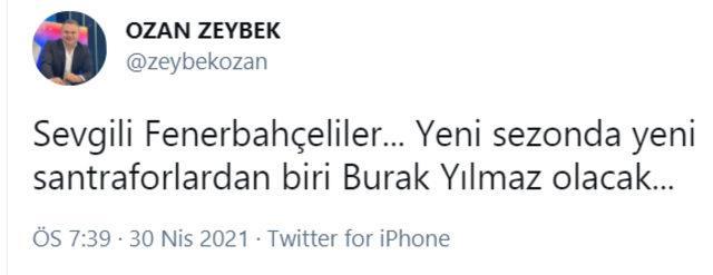 Burak Yılmaz, Süper Lig'e geri dönüyor ama bu kez Fenerbahçe için