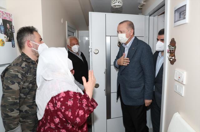 Cumhurbaşkanı Erdoğan, Mahruze Keleş'i ziyaret etti