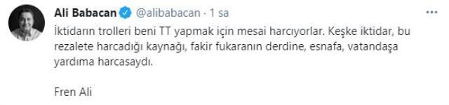 'Fren Ali' polemiği büyüyor! Babacan, eleştirilere sosyal medya üzerinden yanıt verdi
