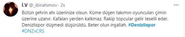 Küme düşen Denizlispor'da bazı futbolcuların maçtan sonra mutlu tavırları tepki çekti