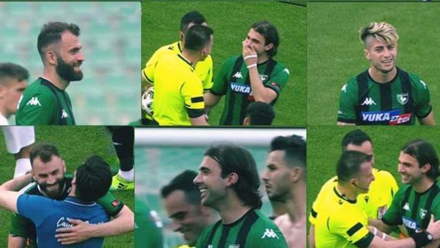 Küme düşen Denizlispor'da maçtan sonra bazı futbolcuların sergilediği mutlu tavırlar tepki çekti