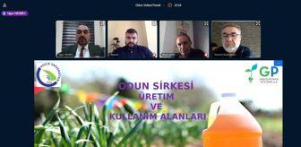 Düzce Üniversitesi: Odun sirkesi online panelde katılımcılara anlatıldı