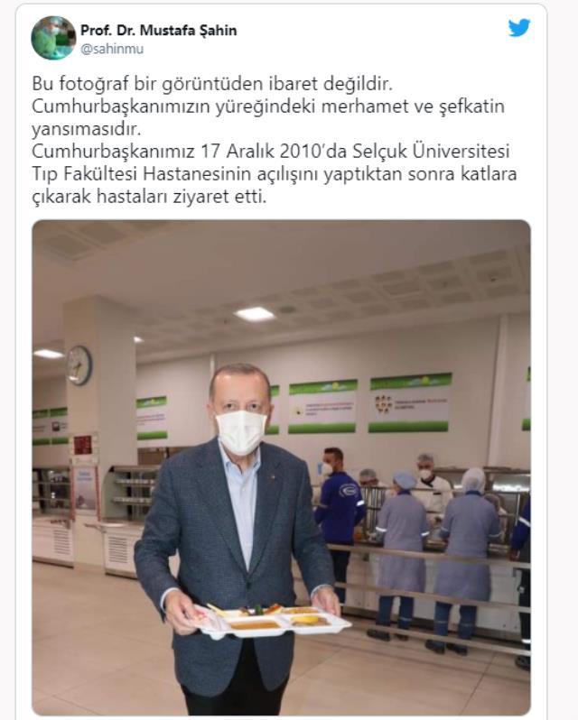 1 Mayıs fotoğrafı sosyal medyayı ikiye böldü! Prof. Dr. Mustafa Şahin kareyi paylaşıp Erdoğan'la ilgili anısını paylaştı