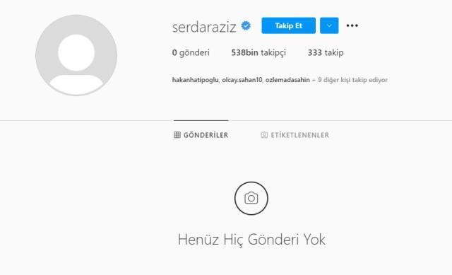 Erzurumspor maçının kadrosuna alınmayan Serdar Aziz, sosyal medya hesabından her şeyi sildi