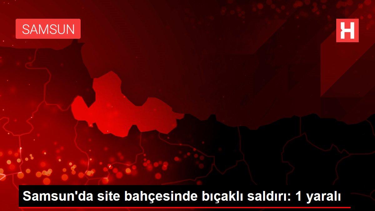 Samsun'da site bahçesinde bıçaklı saldırı: 1 yaralı