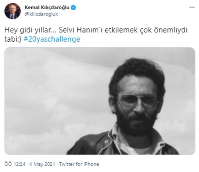 '20 yaş challange' akımına katılan Kılıçdaroğlu, sosyal medya hesabı üzerinden gençlik fotoğrafını paylaştı