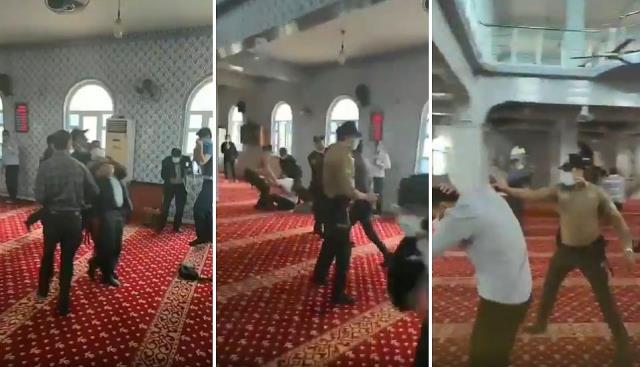 Cami provokasyonun ardından bu kez de sokağa çıktılar! Alparslan Kuytul ve beraberindekiler gözaltına alındı