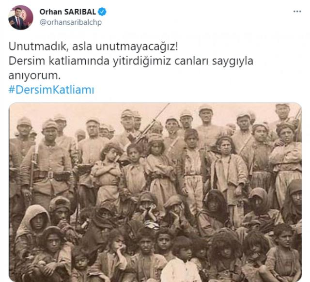 CHP'li vekilin Dersim olayları için 'Katliam' ifadesini kullanması sosyal medyada gündem oldu