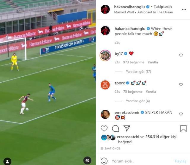 Hakan Çalhanoğlu tartıştığı Zlatan Ibrahimovic'i takipten çıktı