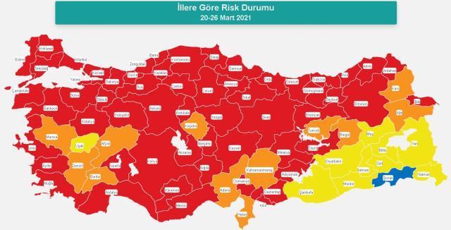 İl il koronavirüs vaka sayıları kaçtır? 24-30 Nisan İl il güncel koronavirüs risk haritası ve haftalık vaka sayıları açıklandı mı?