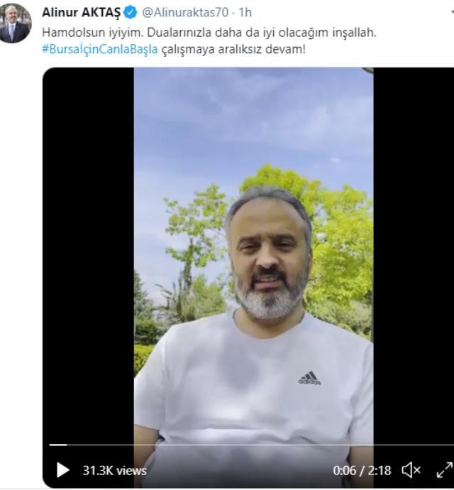 Koronavirüs mağduru Bursa Belediye Başkanı Aktaş'ın sağlık durumuna yönelik önemli gelişme: Taburcu oldu!