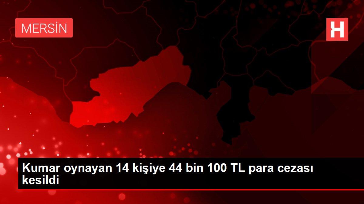 Mersin'de kısıtlamada kahvehanede kumar oynayan 14 kişiye para cezası kesildi