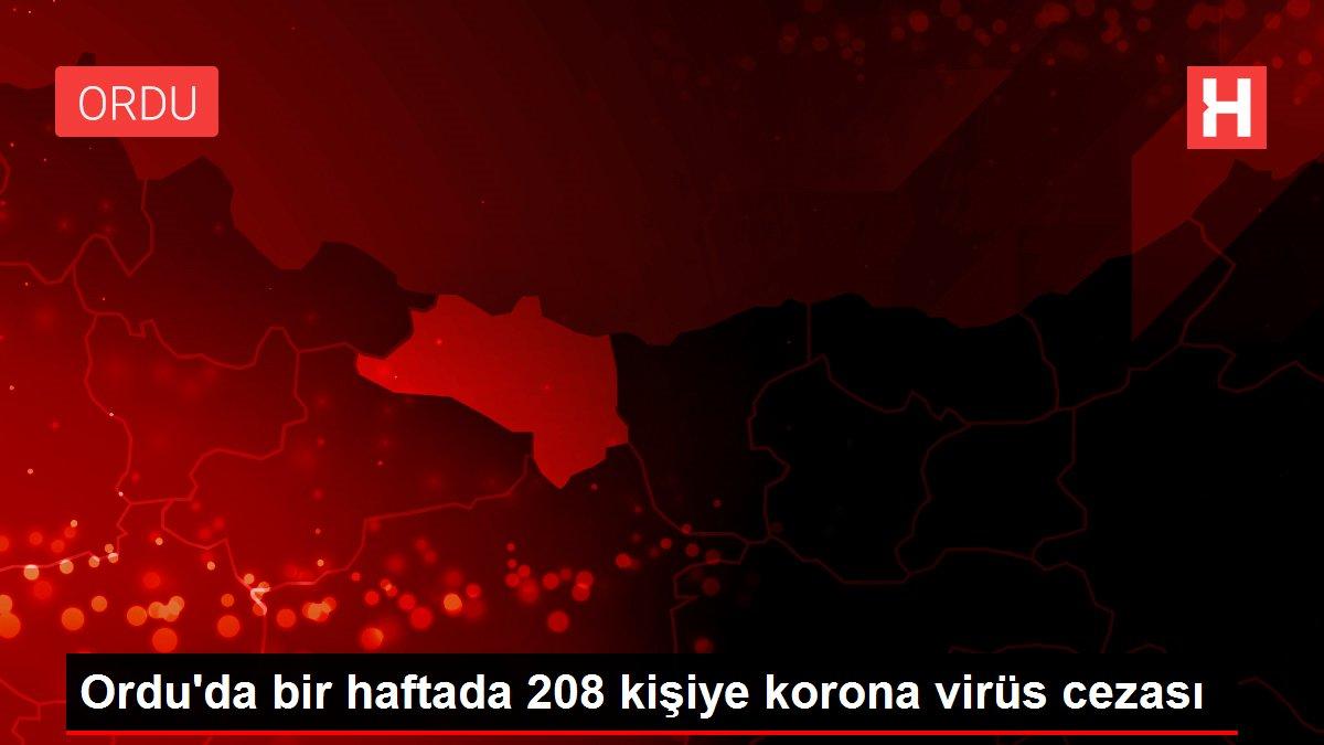Ordu'da bir haftada 208 kişiye korona virüs cezası