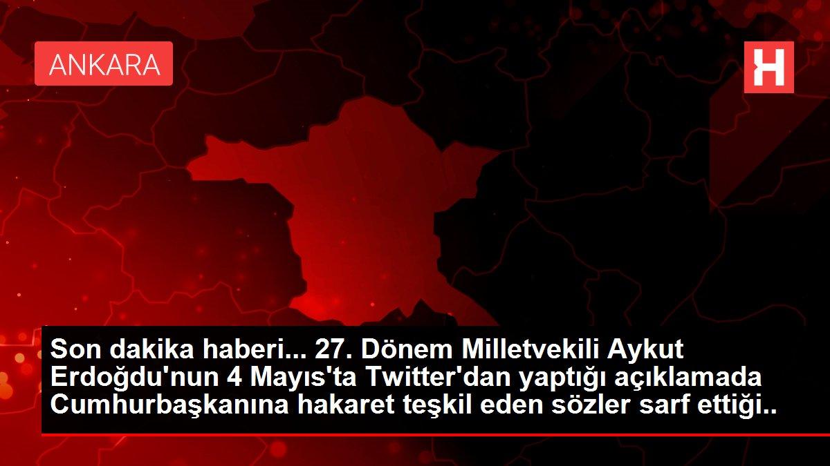 Ankara Cumhuriyet Başsavcılığı Erdoğdu hakkında soruşturma başlattı