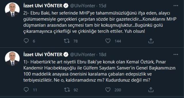 Devlet Bahçeli'nin yardımcısı, sunucu Ebru Baki'yi hedef almıştı! Habertürk'ten MHP'ye yanıt gecikmedi