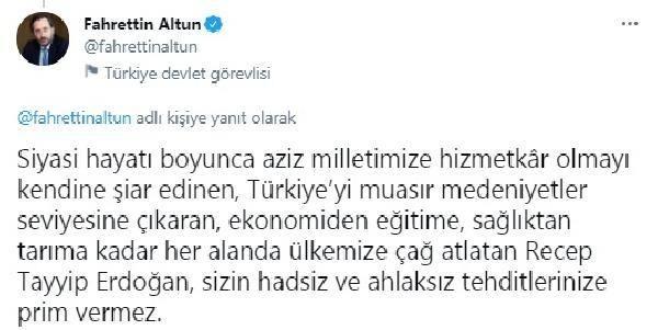 Son Dakika | Cumhurbaşkanlığı İletişim Başkanı Altun'dan, CHP'li Erdoğdu'nun Cumhurbaşkanı Erdoğan'a yönelik sözlerine tepki Açıklaması