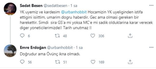 Galatasaray'da iptal edilen başkanlık seçiminin ardından Mustafa Recevik ile Emre Erdoğan istifa etti