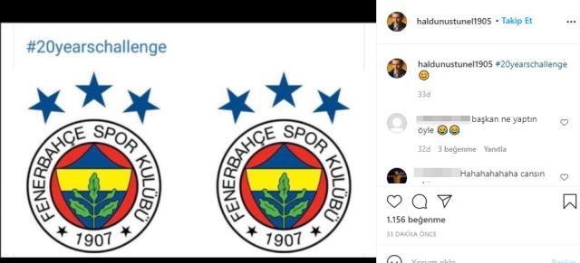 Haldun Üstünel, 20'li yaşlar akımına dahil olduğu paylaşımda Fenerbahçe'yle dalga geçti
