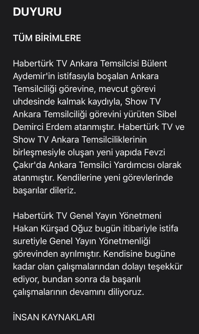 MHP ile yaşanan gerginlik sonrası Habertürk'te peş peşe ayrılıklar