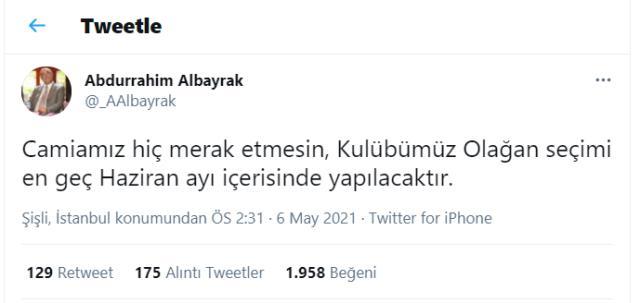 Abdurrahim Albayrak da Cengiz'e kılıç çekti: Hiç merak etmeyin, seçim en geç haziran ayında olacak
