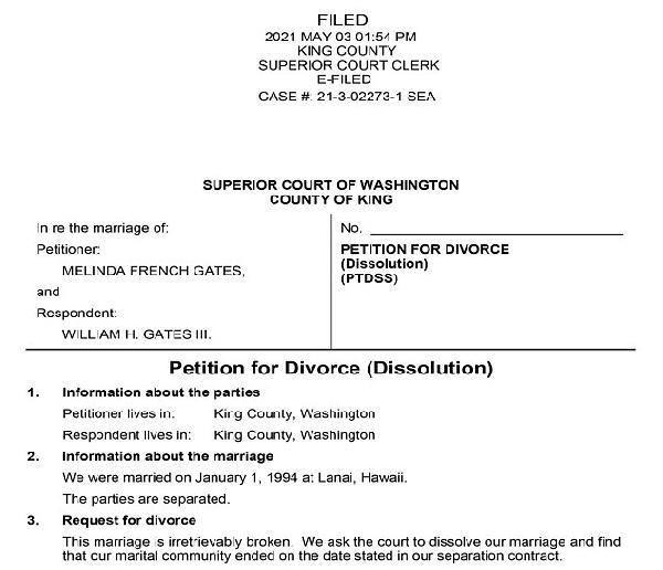 Bill Gates, boşanma kararı aldığı eşi Melinda'ya 1.8 milyar dolarlık hisse aktardı